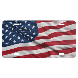 Flag of the USA License Plate