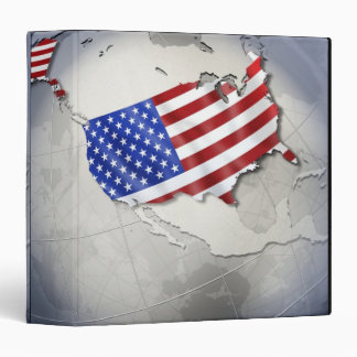 Flag of the USA Vinyl Binder