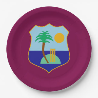 Flag of The West Indies Cricket Paper Plate