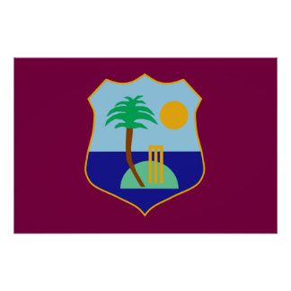 Flag of The West Indies Cricket Poster