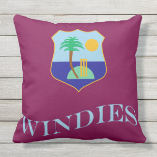 Flag of The West Indies Cricket Throw Pillow