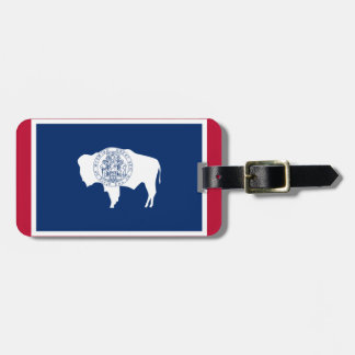Flag of the Wyoming Luggage Tag