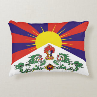 Flag of Tibet  or Snow Lion Flag Accent Pillow