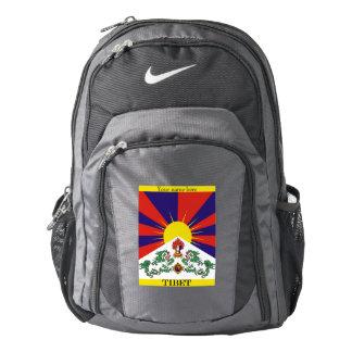 Flag of Tibet  or Snow Lion Flag Backpack