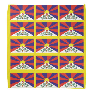 Flag of Tibet  or Snow Lion Flag Bandana