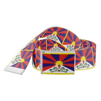 Flag of Tibet  or Snow Lion Flag Belt