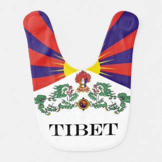 Flag of Tibet  or Snow Lion Flag Bib