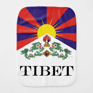 Flag of Tibet  or Snow Lion Flag Burp Cloth