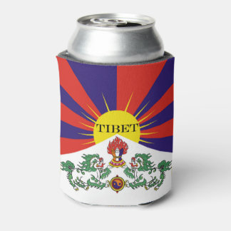 Flag of Tibet  or Snow Lion Flag Can Cooler