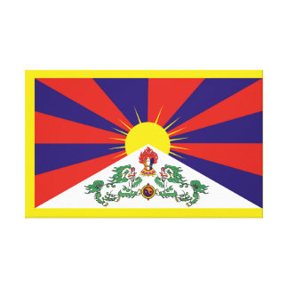 Flag of Tibet  or Snow Lion Flag Canvas Print