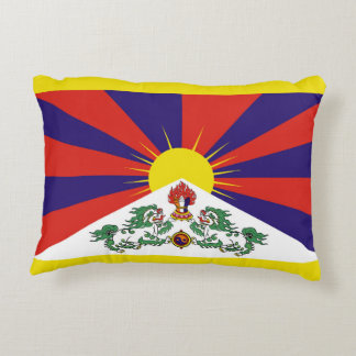 Flag of Tibet  or Snow Lion Flag Decorative Pillow