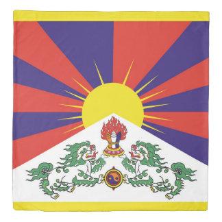Flag of Tibet  or Snow Lion Flag Duvet Cover