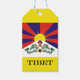 Flag of Tibet  or Snow Lion Flag Gift Tags