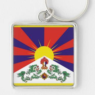 Flag of Tibet  or Snow Lion Flag Keychain