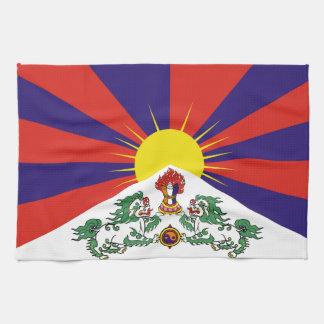 Flag of Tibet  or Snow Lion Flag Kitchen Towel