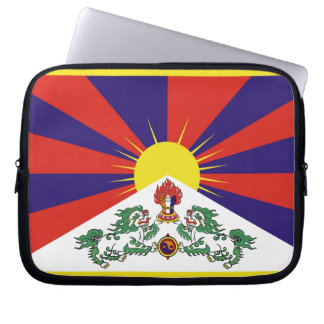 Flag of Tibet  or Snow Lion Flag Laptop Sleeve