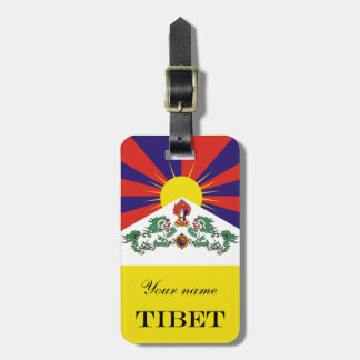 Flag of Tibet  or Snow Lion Flag Luggage Tag