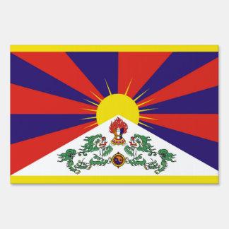 Flag of Tibet  or Snow Lion Flag Sign