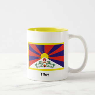 Flag of Tibet Two-Tone Coffee Mug
