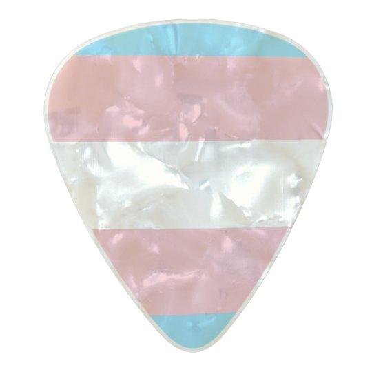 Flag of Trans Pride Guitar Picks Pearl Celluloid Guitar Pick