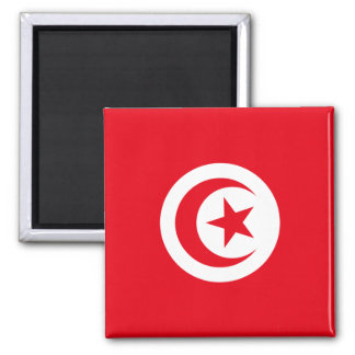 Flag of Tunisia Square Magnet