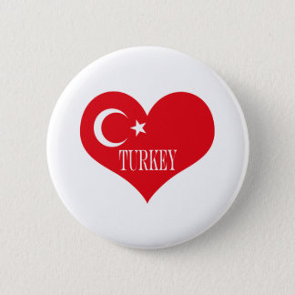 Flag of Turkey 2 Inch Round Button