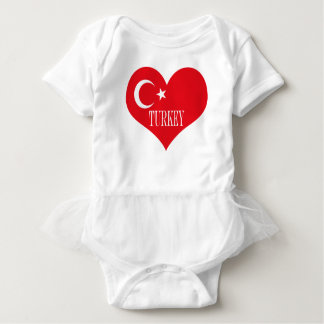 Flag of Turkey Baby Bodysuit