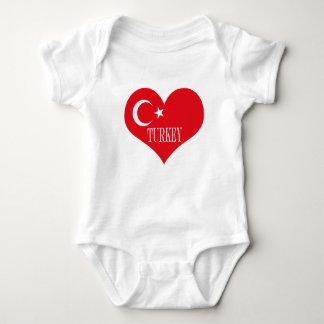 Flag of Turkey Baby Bodysuit