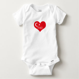 Flag of Turkey Baby Onesie