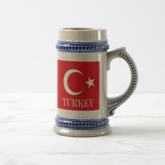 Flag of Turkey Beer Stein