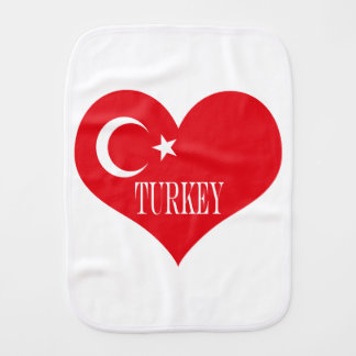 Flag of Turkey Burp Cloth