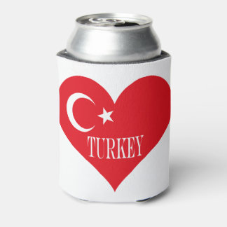 Flag of Turkey Can Cooler