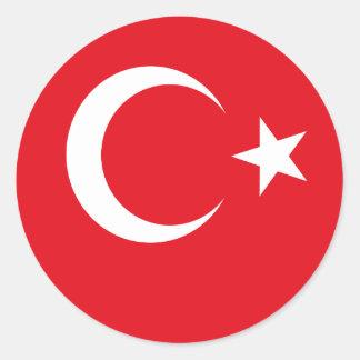 Flag of Turkey Classic Round Sticker
