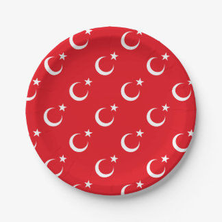 Flag of Turkey Paper Plate