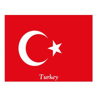 Flag of Turkey Postcard