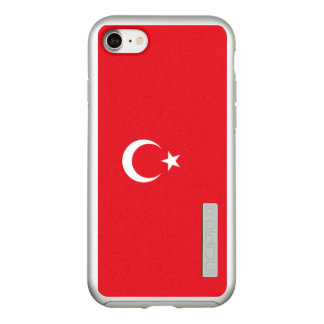 Flag of Turkey Silver iPhone Case