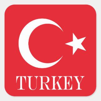 Flag of Turkey Square Sticker