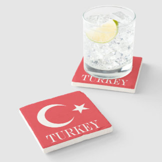 Flag of Turkey Stone Coaster