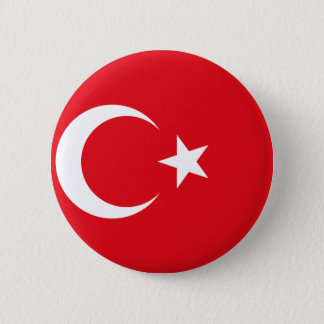 Flag of Turkey - Turkish flag - Türk bayrağı 2 Inch Round Button
