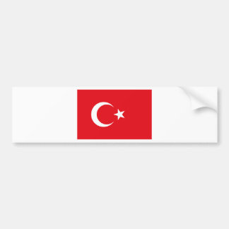 Flag of Turkey - Turkish flag - Türk bayrağı Bumper Sticker