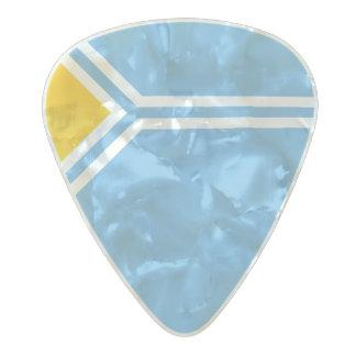 Flag of Tuva (Tyva) Republic Guitar Picks Pearl Celluloid Guitar Pick
