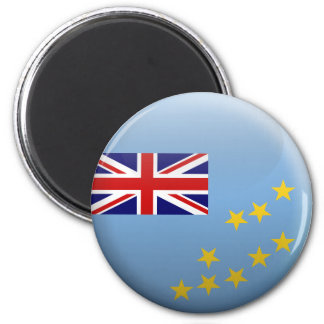 Flag of Tuvalu 2 Inch Round Magnet