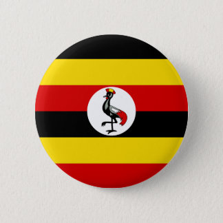Flag of Uganda 2 Inch Round Button