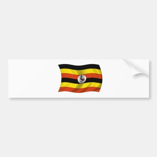 Flag of Uganda Car Bumper Sticker