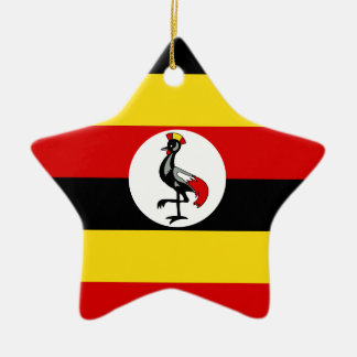 Flag of Uganda Ceramic Ornament