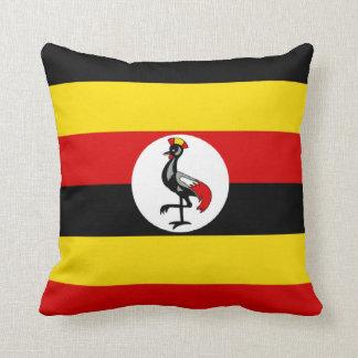 Flag of Uganda Throw Pillow