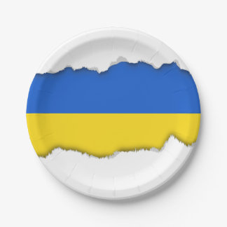 Flag of Ukraine 7 Inch Paper Plate