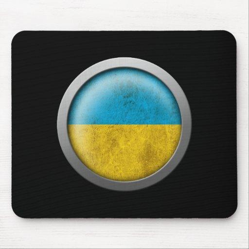 Flag of Ukraine Disc Mousepads