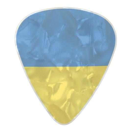 Flag of Ukraine Guitar Picks Pearl Celluloid Guitar Pick