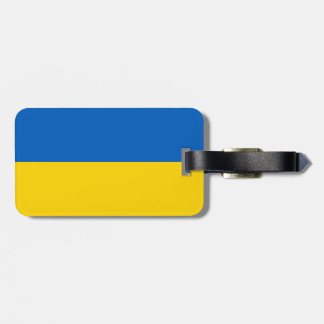 Flag of Ukraine Luggage Tag w/ leather strap